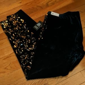Express Velvet Sequin Leggings